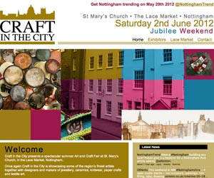 craft in the city nottingham website design